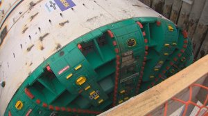 "The tunnel boring machine known as ""Bertha"" that will dig the State Route 99 tunnel under Seattle.  Photo courtesy of KING 5 News"