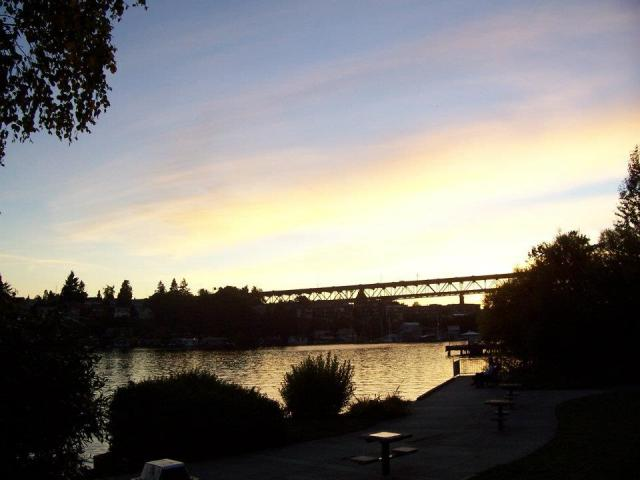Seattle's Aurora Bridge at sunset.  Photo by MS(R)M