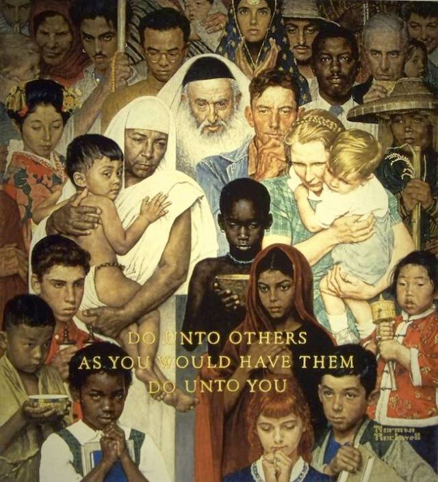Norman Rockwell – Do Unto Others