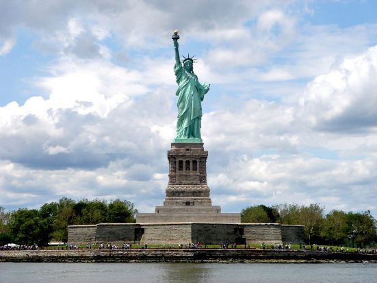 liberty island and statue of liberty